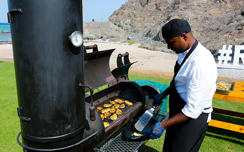 <p>Saturday BBQ at Al Khiran</p>