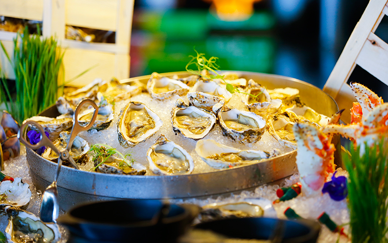 <p>Oysters at Friday brunch</p>
