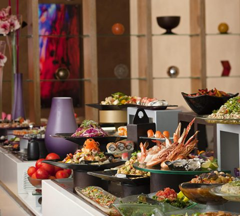 Enjoy more than 200 dishes and free pool access at this Abu Dhabi brunch