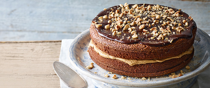 Mocha & hazelnut cake