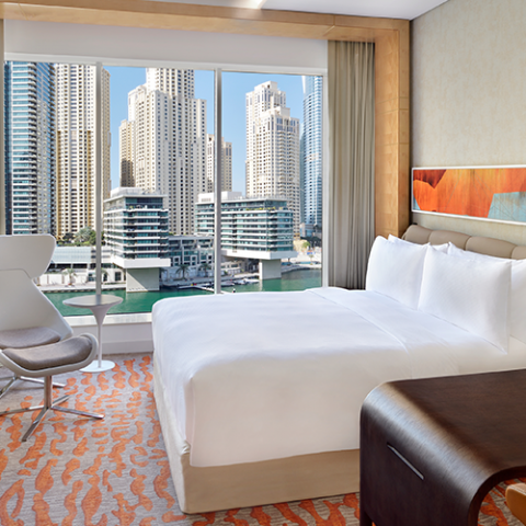 WIN A 1-NIGHT STAY FOR 2 WITH BREAKFAST & DINNER AT CROWNE PLAZA DUBAI MARINA, WORTH AED1,000!
