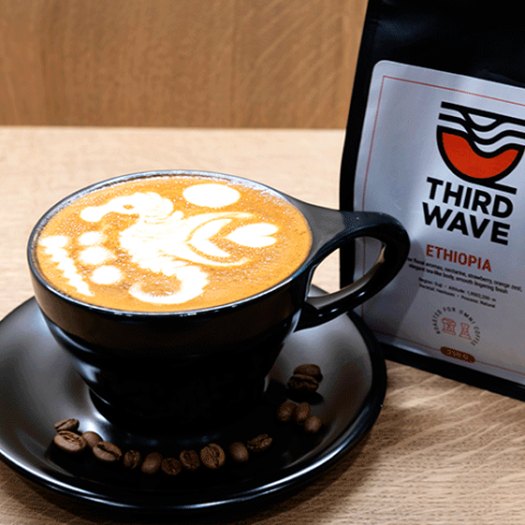 A V60 BREWING CLASS OR A COFFEE ROASTING CLASS AT THIRD WAVE CAFÉ, EACH WORTH AED1,000