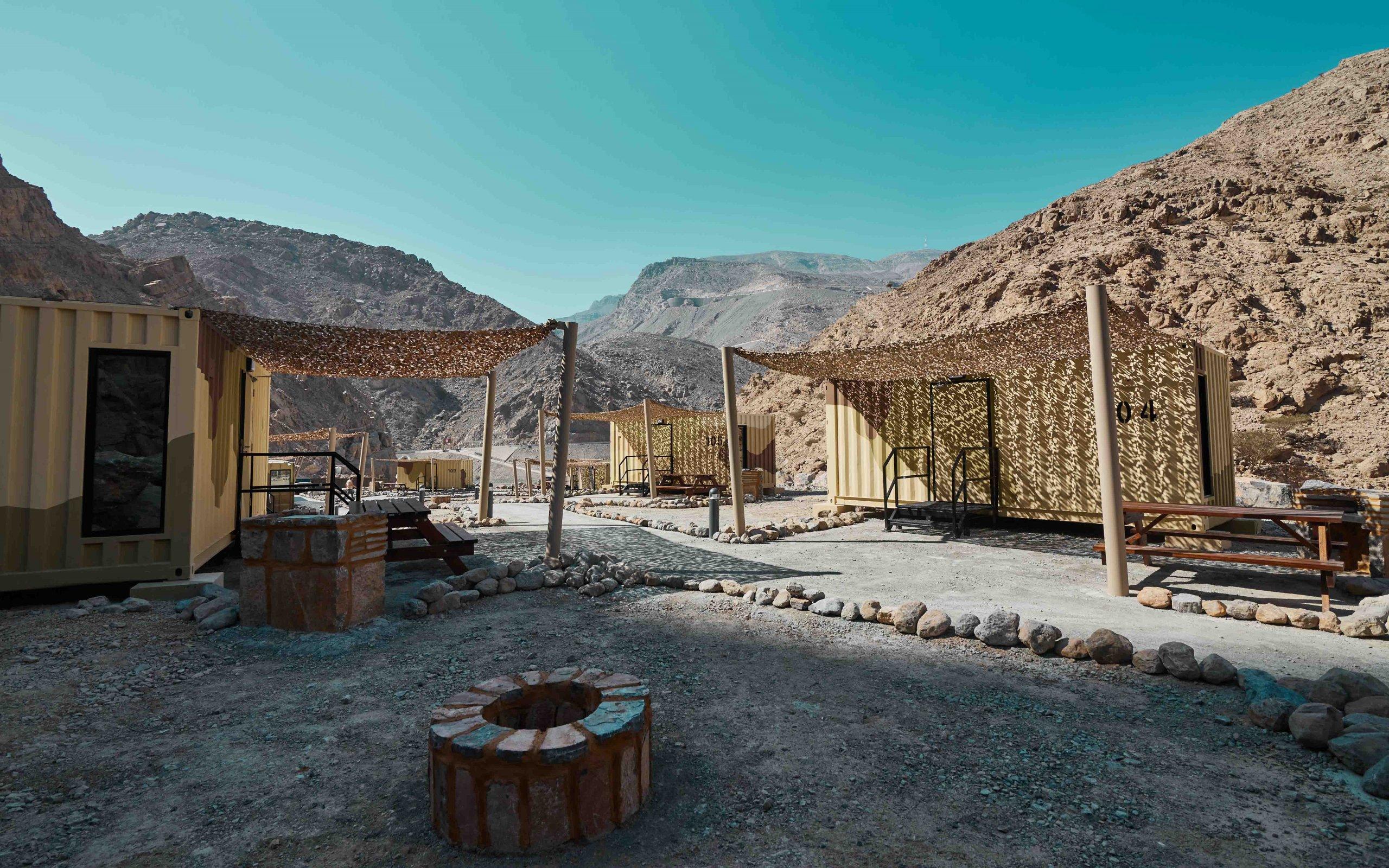 Bear Grylls camp Jebel Jais RAK