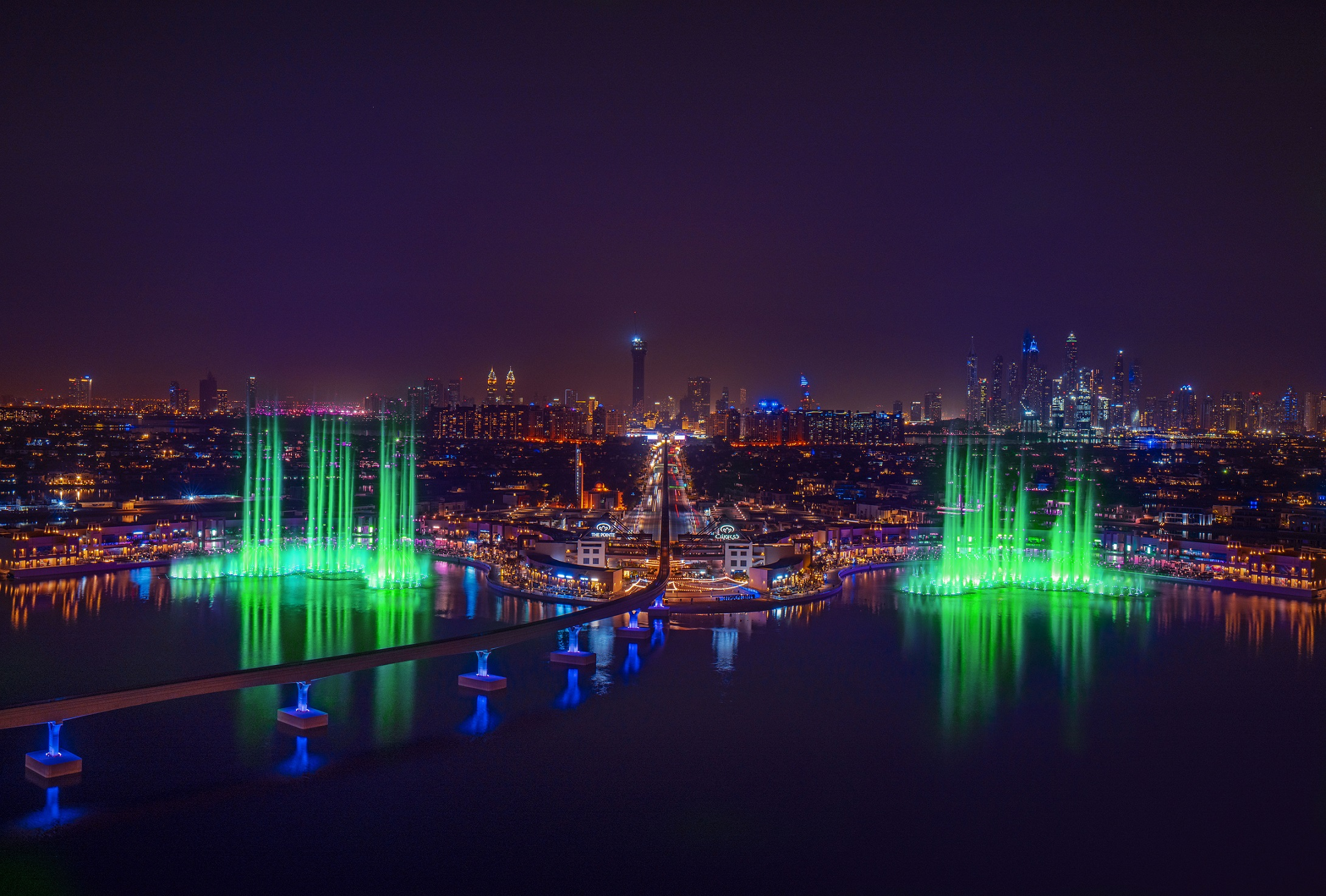 Palm Jumeirah on St. Patrick's Day